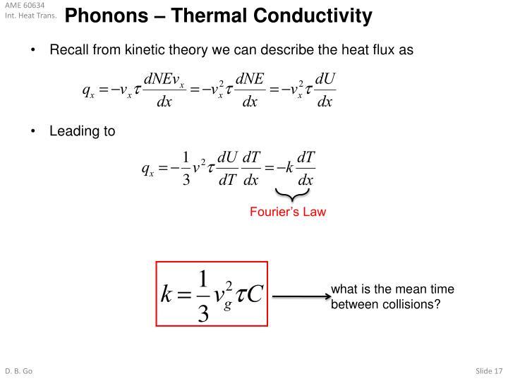 Phonons – Thermal Conductivity