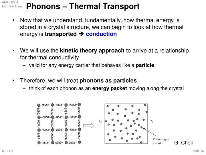 Phonons – Thermal Transport