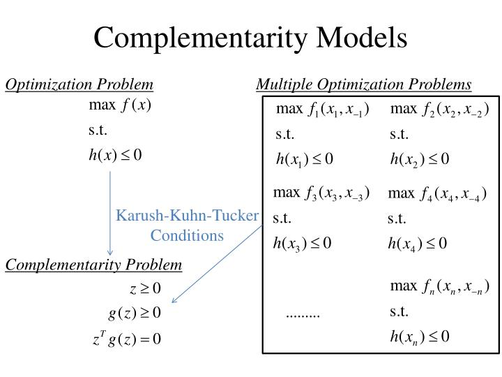 Complementarity Models