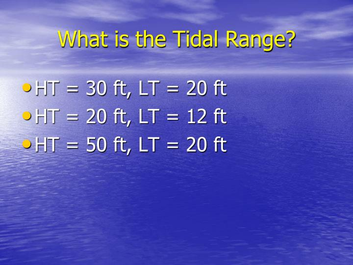 What is the Tidal Range?
