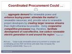 coordinated procurement could