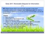early 2011 renewable request for information