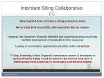 interstate siting collaborative