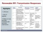 renewable rfi transmission responses