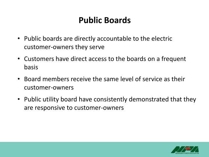 Public Boards