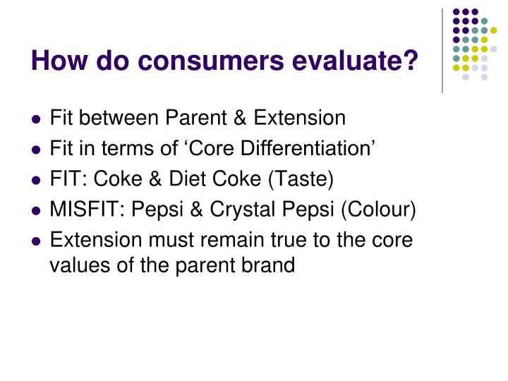 How do consumers evaluate?
