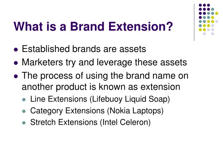 What is a brand extension