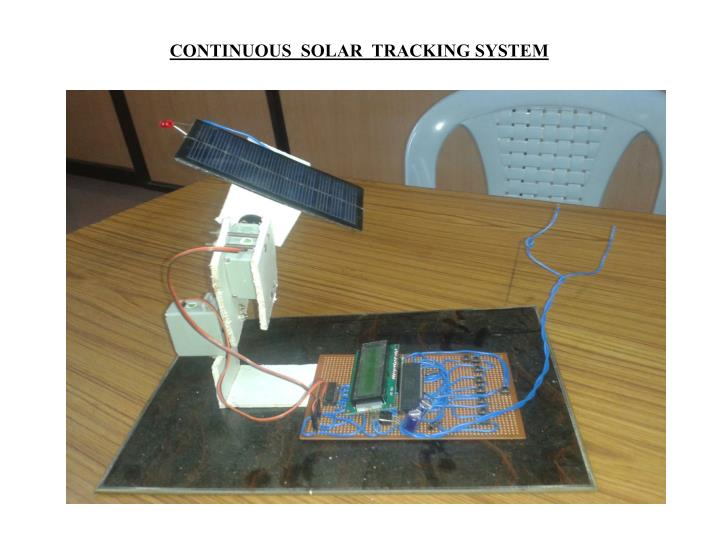 CONTINUOUS  SOLAR  TRACKING SYSTEM