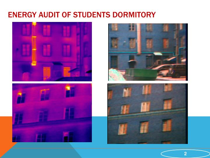 Energy audit of students dormitory