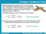 example cardboard tube