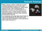 example earplugs