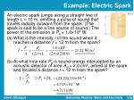 example electric spark