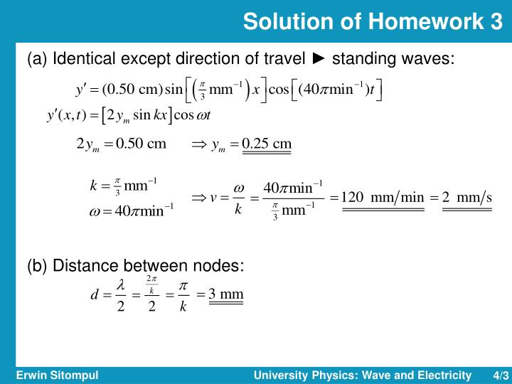 Solution of homework 3