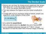 the decibel scale