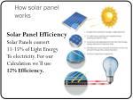 how solar panel works
