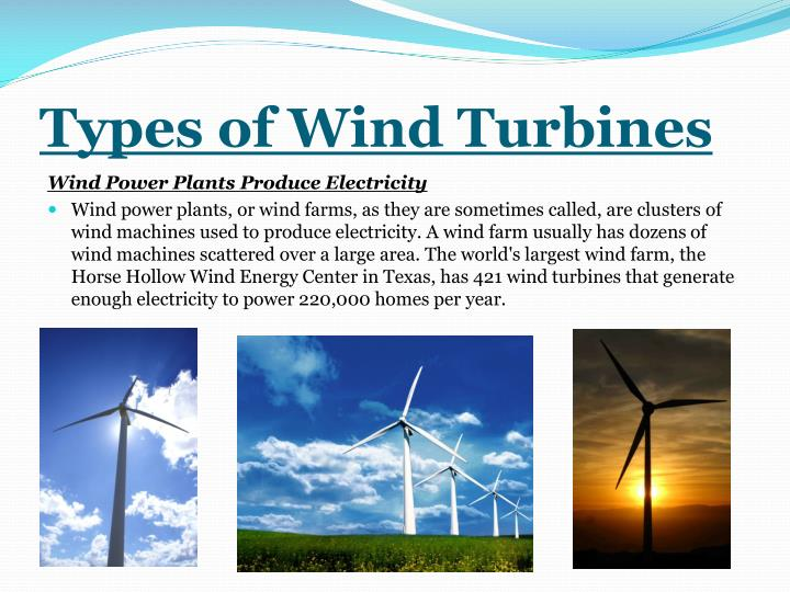 Types of Wind Turbines