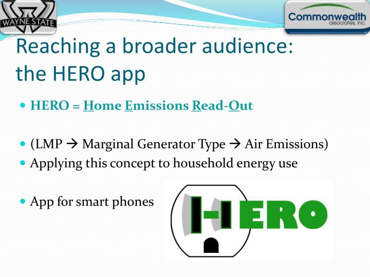 Reaching a broader audience: the HERO app