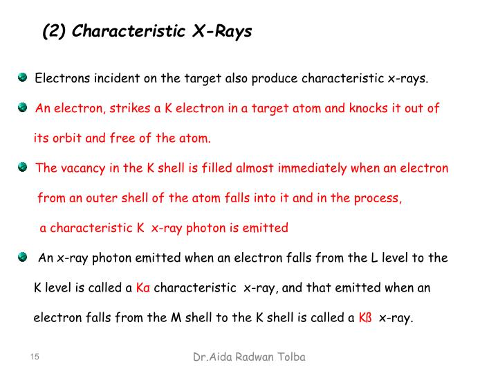 (2) Characteristic X-Rays