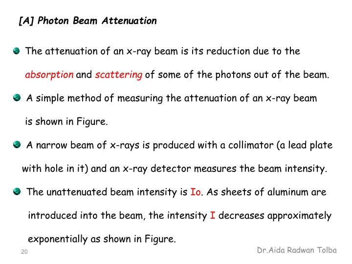 [A] Photon Beam Attenuation