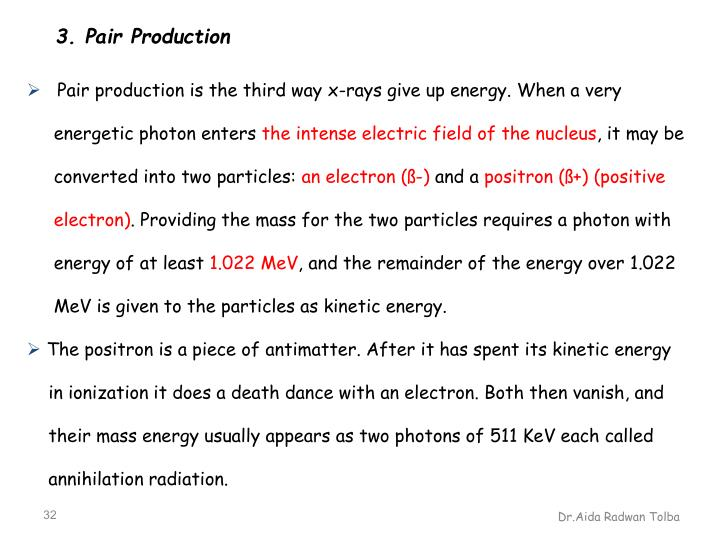 3. Pair Production