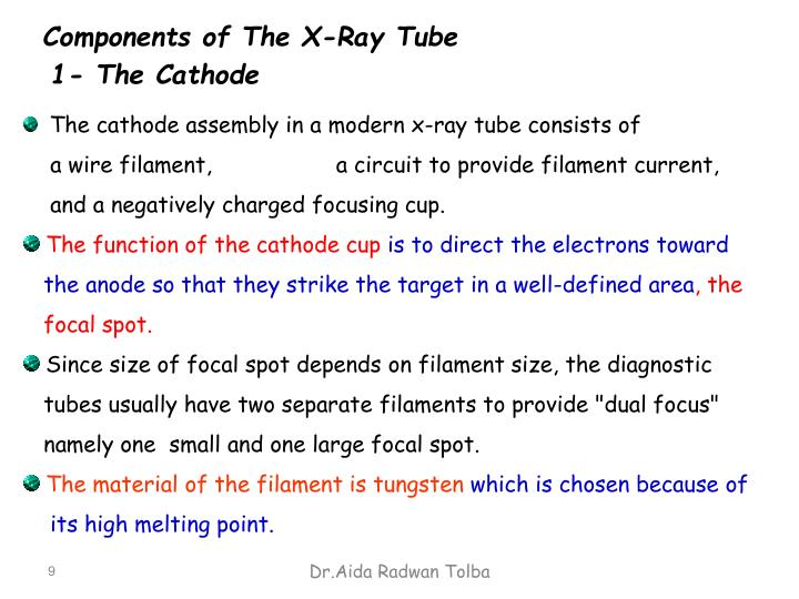 Components of The X-Ray Tube