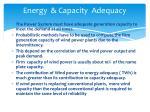 energy capacity adequacy
