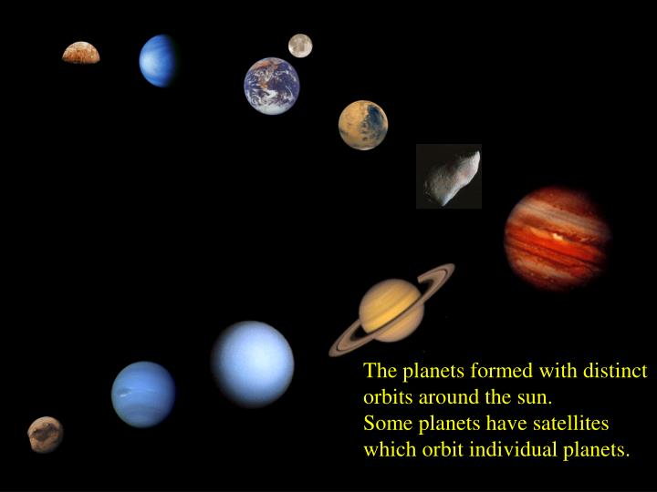 The planets formed with distinct