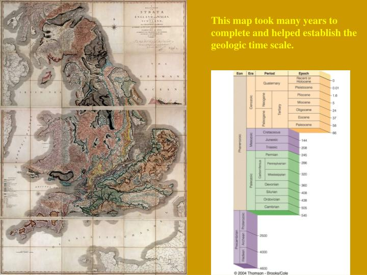 This map took many years to complete and helped establish the geologic time scale.