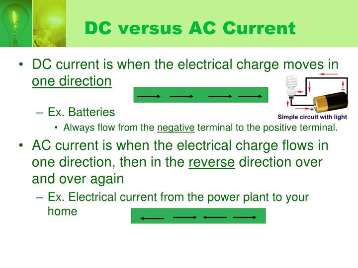 DC versus AC Current