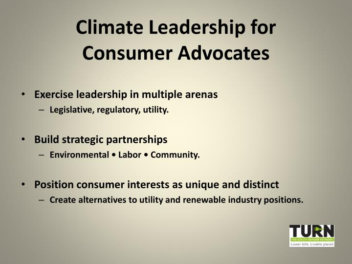 Climate Leadership for