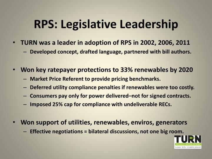 RPS: Legislative Leadership