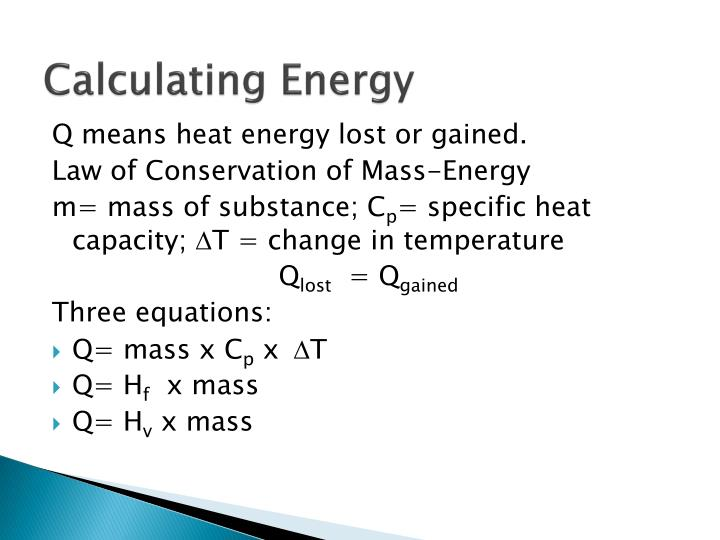 Calculating Energy