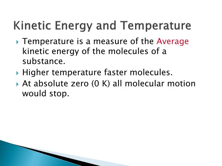 Kinetic Energy and Temperature