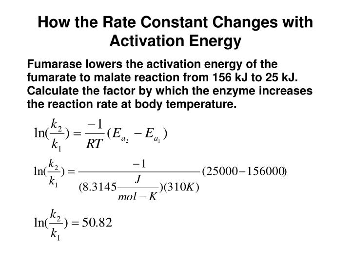 How the Rate Constant Changes with Activation Energy
