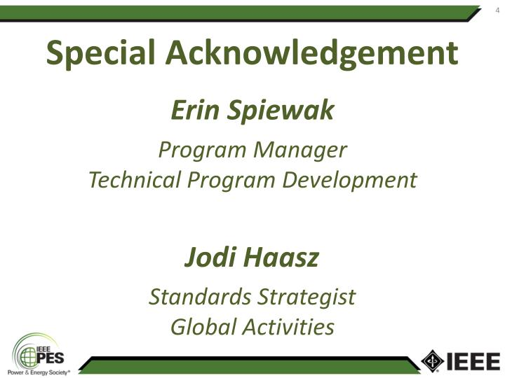 Special Acknowledgement