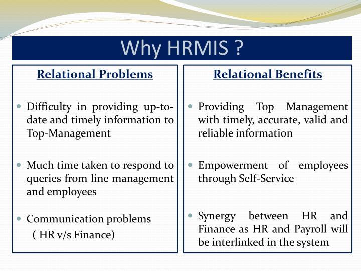 Why HRMIS ?
