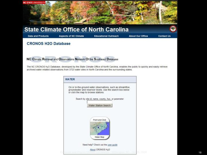 Carolinas and Virginia Climate Conference - Wilmington, NC - Oct 20, 2009