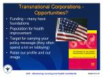 transnational corporations opportunities