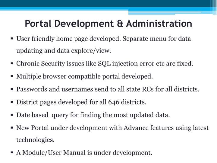 Portal Development & Administration