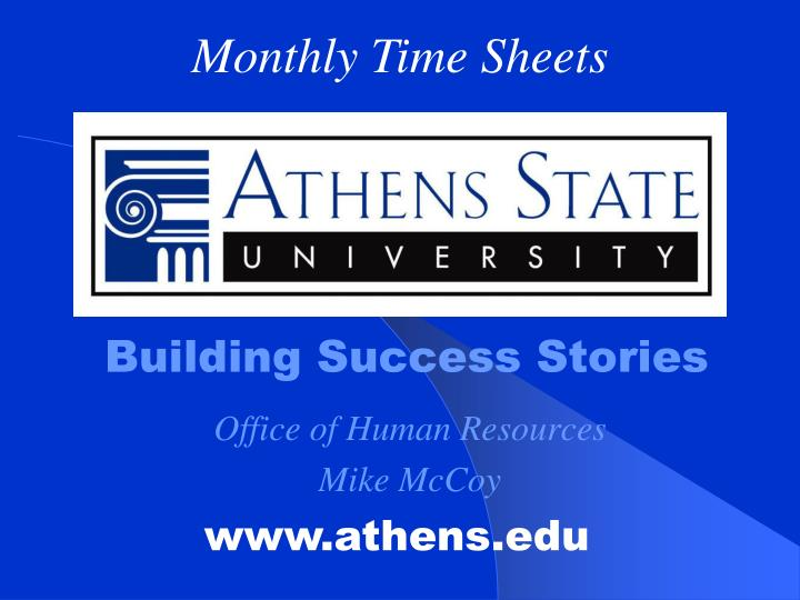 Building success stories