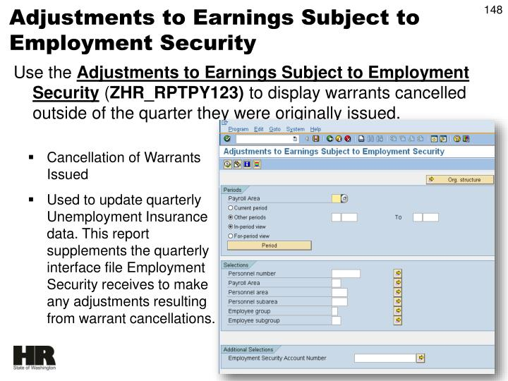 Adjustments to Earnings Subject to