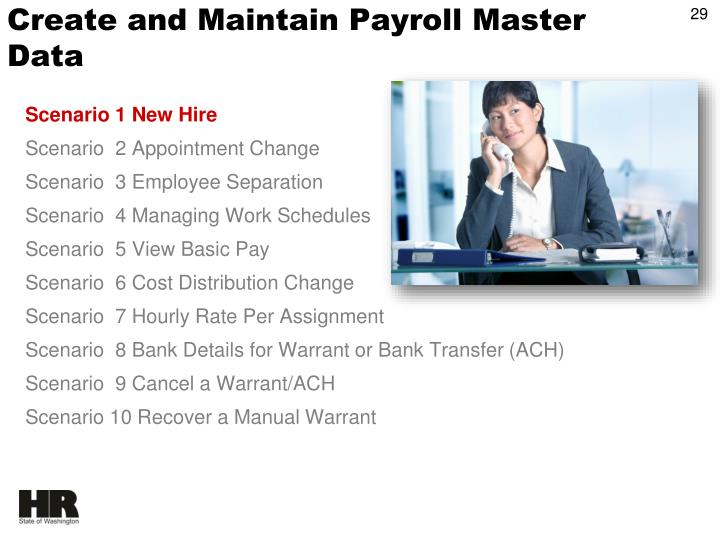 Create and Maintain Payroll Master Data