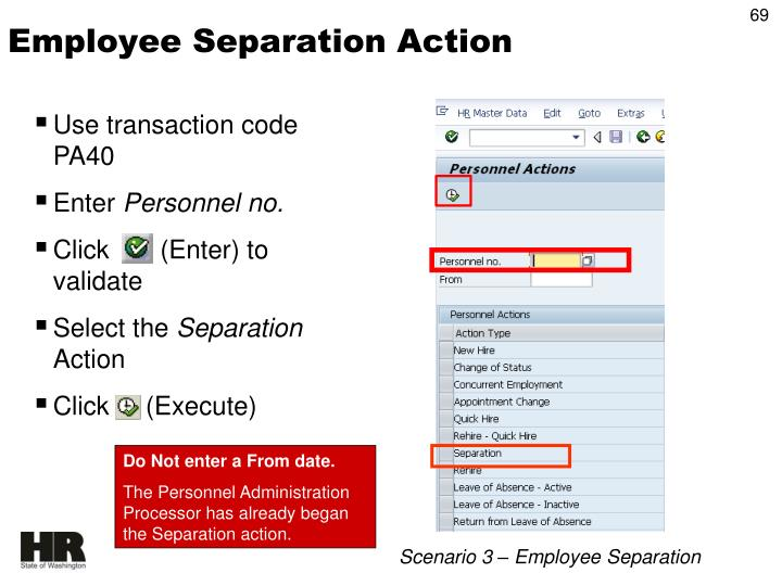 Employee Separation Action