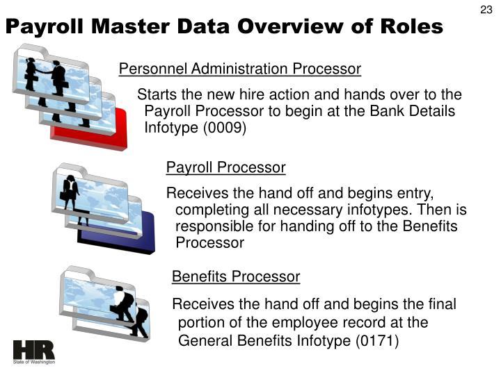 Payroll Master Data Overview of Roles