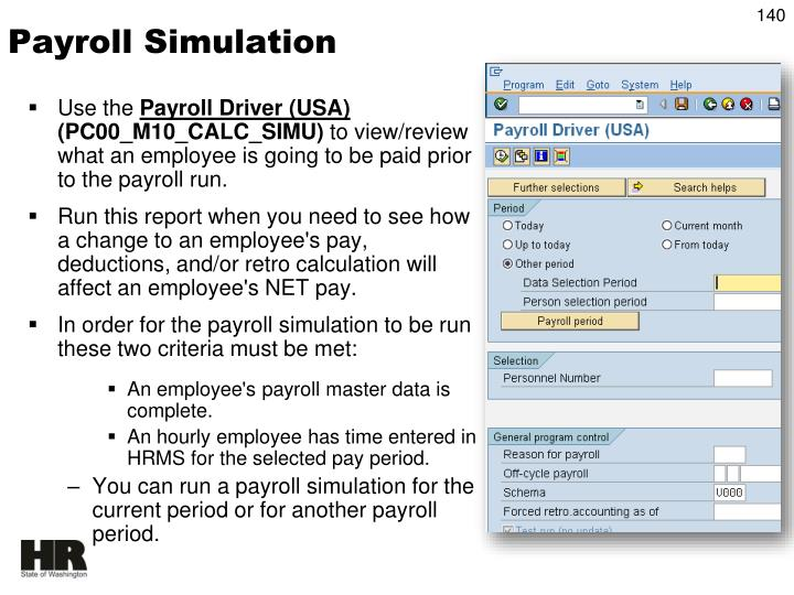 Payroll Simulation