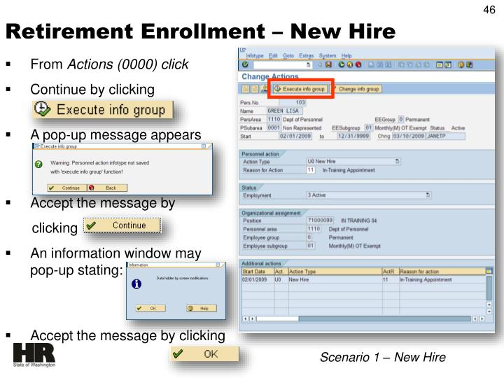Retirement Enrollment – New Hire