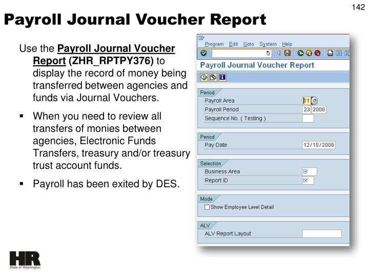 Payroll Journal Voucher Report