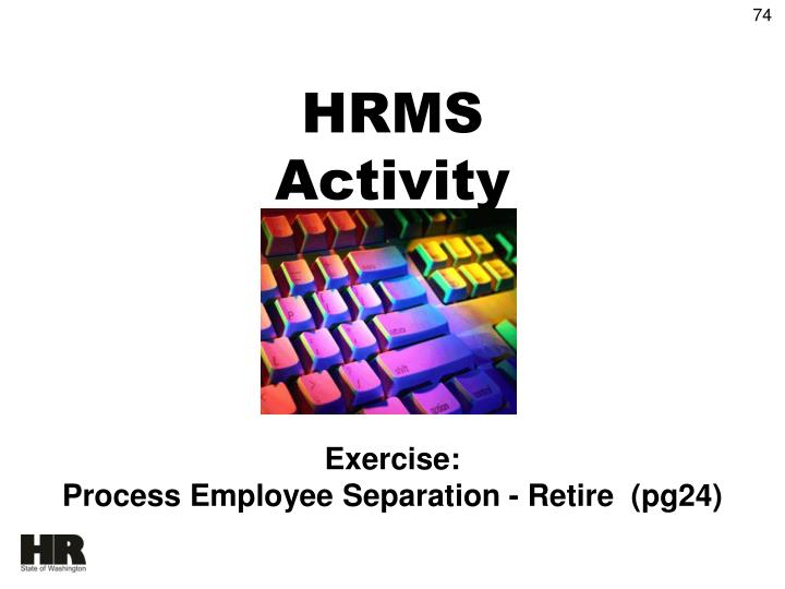 HRMS Activity