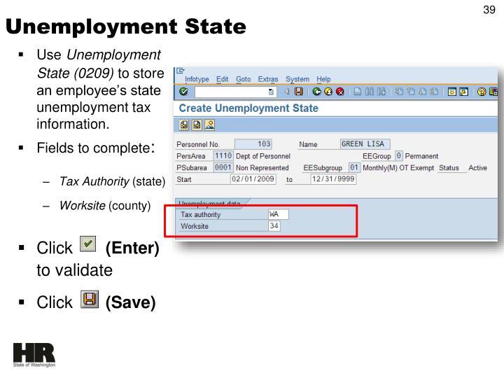 Unemployment State