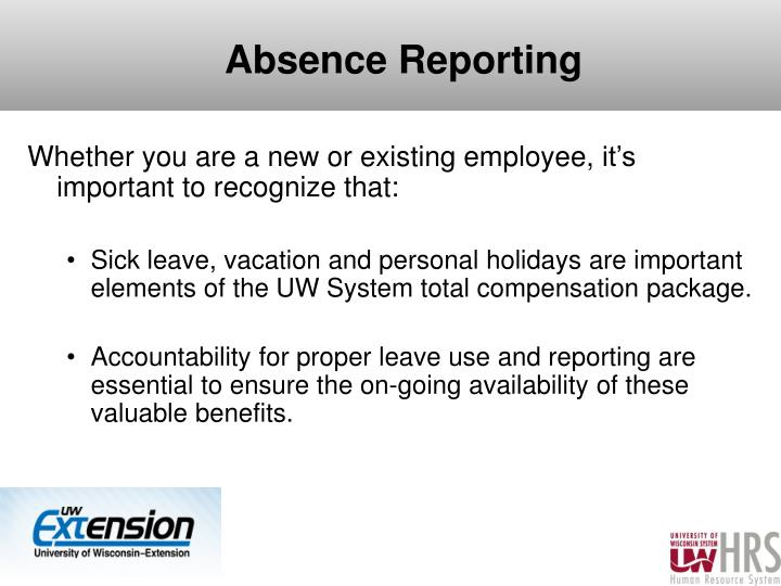 Absence Reporting